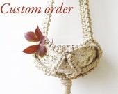 Custom order - 5 Macrame plant hangers