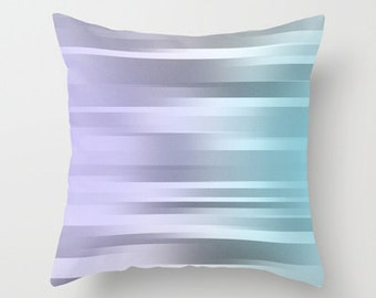 Blue Purple Gray Pillow Cover - Throw Pillow Cover - Includes Pillow Insert - Ombre - Sofa Pillow - Home Decor - Made to Order