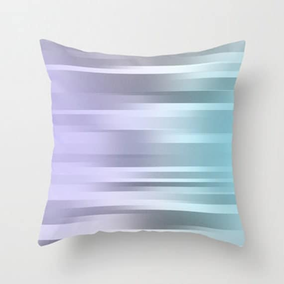 Items similar to Blue Purple Gray Pillow Cover - Throw Pillow Cover - Includes Pillow Insert ...