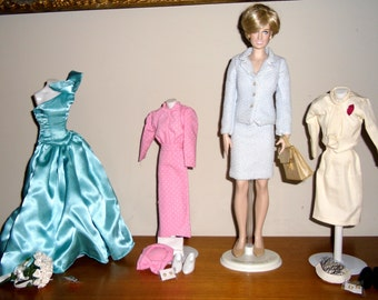 Princess Diana of Wales Doll, Princess Diana Doll Wardrobe, Princess Diana Franklin Mint Portrait Doll