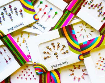 Lot of 12 High Quality Bindi Set / Handpicked Designer Bindis/ Indian Traditional Stickers Surprise Value Set