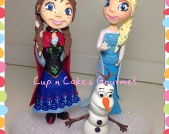 "Frozen Friend Cake topper Set ( 6- 7"")"