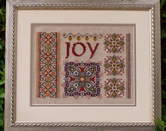 "Christmas Cross Stitch Instant Download ""Joy Sampler"" Pattern Holiday sampler Counted Embroidery X Stitch Geometric Ornamental Mini Mandala"