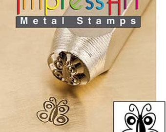 ImpressArt Butterfly Metal Design Stamp- 6MM Steel Stamp- Great For All Metal Work and Jewelry Desig- SGSC156-T-6mm
