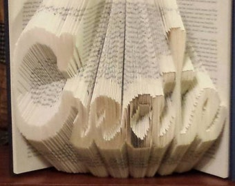 "Folded Book Art - ""Create"" - Made to order"