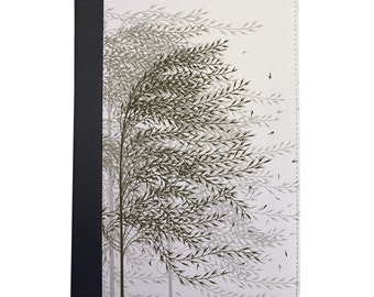 Willow Trees Blowing In The Wind Folio Case. Choose Pink, Green or Cream For The iPad Mini