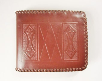 A 1950s Brown 'Gildcraft Product' Billfold Made From Genuine Calf - Soft and Supple Billfold - 'Made in America by American Workmen'
