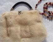 Vintage Blond Mink Evening Bag