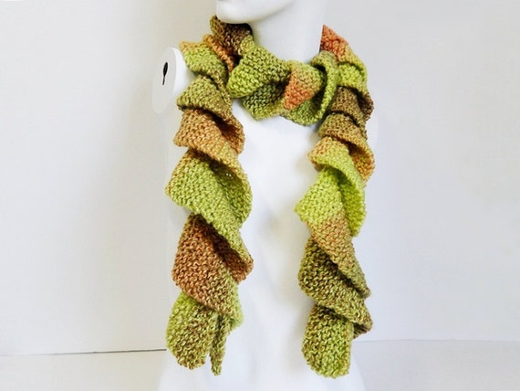 Loom Knitted Pattern For A Potato Chip Scarf : Knit / Potato Chip Scarf