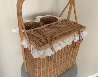 Vintage Wine and Cheese Basket