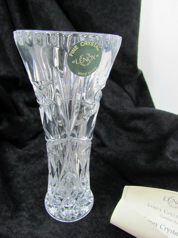 lenox fine crystal vase with coa by treasurepicker on etsy