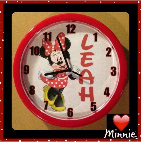Personalized Minnie Mouse Wall Clock