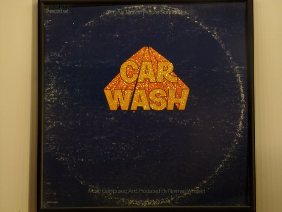 Glittered Record Album - Car Wash - Soundtrack