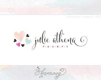 Custom, Premade, Photography Logo, Hearts, Modern logo, Boutique Logo