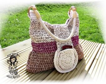 Crochet PATTERN, Crochet bag pattern, Multicolor NATY, Crochet Purse, Handbag, DIY Pattern 97
