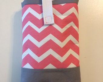 Pink Chevron Diaper Case