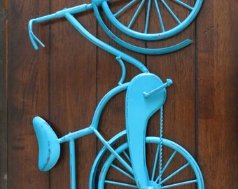 Bike Wall Decor / Pick Your Color / Bicycle Metal Wall Decor / Unique Wall Idea / Metal Wall Hanging / Bike Art / Gift for Cyclist