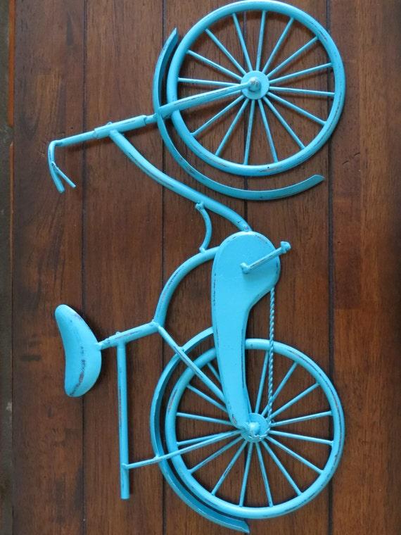 Metal Wall Decor Bicycle : Bike wall decor pick your color bicycle metal