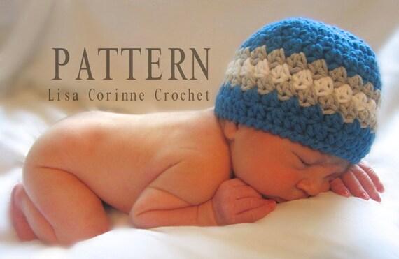 Newborn Boy Crochet Patterns Newborn Hat Pattern Baby Boy