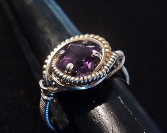 Amethyst Ring (Sterling)select size