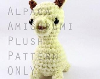 PATTERN: Midi Alpaca Amigurumi Plush (instant download)