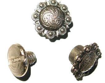 Spiral Berry Concho - Antique Nickel 10 pack 3306-15