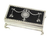Antique English Edwardian Silver Jewellery Box