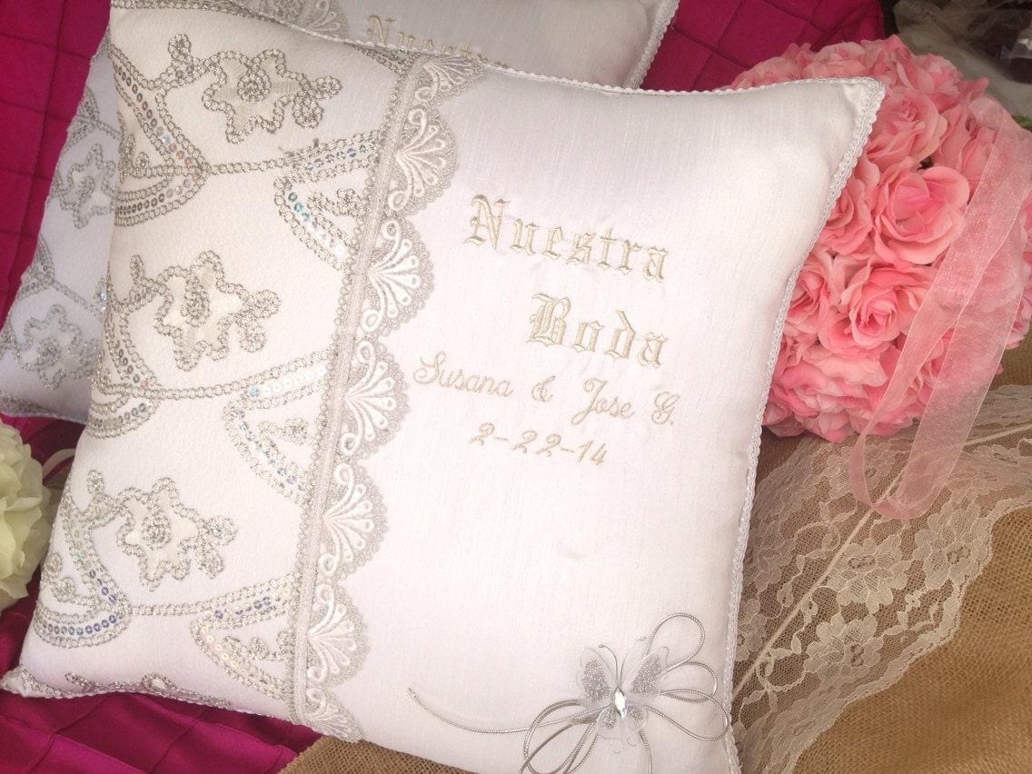 Cojines para boda 2pc personalizados cojines quince cojines - Cojines para cama matrimonio ...