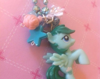 Adorable Sprinkles Medley pony necklace-My Little Pony inspired necklace-kawaii mardi gras necklace-pony jewelry-flower necklace-gift 4 her