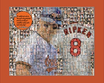 Cal Ripken Jr. Photo Mosaic Print Art-8X10""