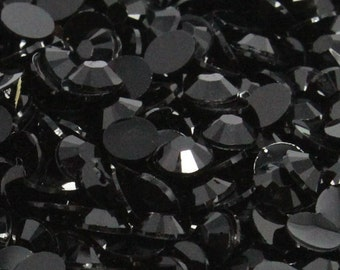 1000 4mm Black Flatback Resin Rhinestones ss16 High Quality 14 Facets DIY Deco Bling Scrapbooking Embellishments