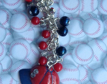 Baseball Cap Cell Phone Charm for your iphone. ipad, galaxy S3 or S4, note pads,dust plug, headphone jack plug, cellphone plug, or headphone