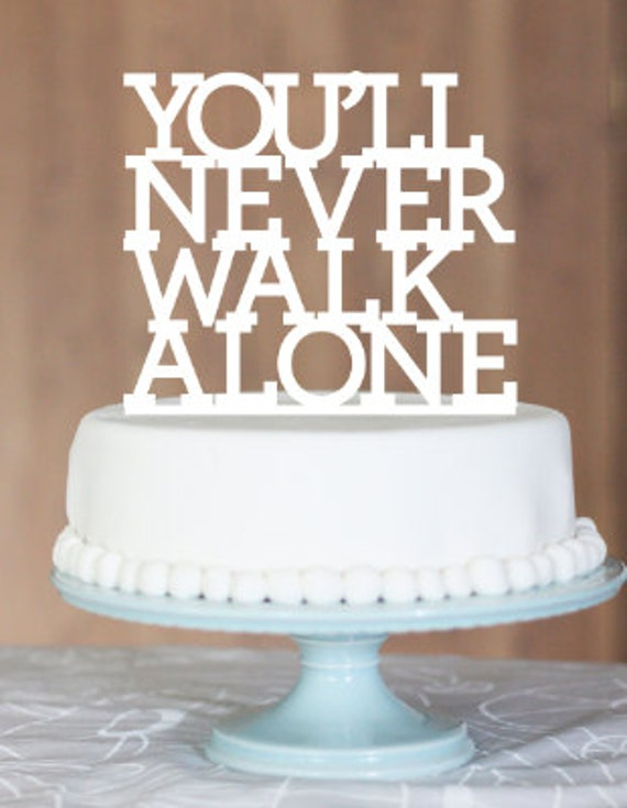 half and football wedding cake you ll never walk aloneynwaliverpool fansoccer 15038