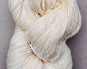 Cotton Slub Yarn, Natural, Textured Knitting Yarn, Double Knitting Wool, Knitting, Weaving, Crochet, 235g
