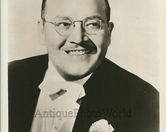 Pee Wee Hunt jazz band leader trombone player antique photo
