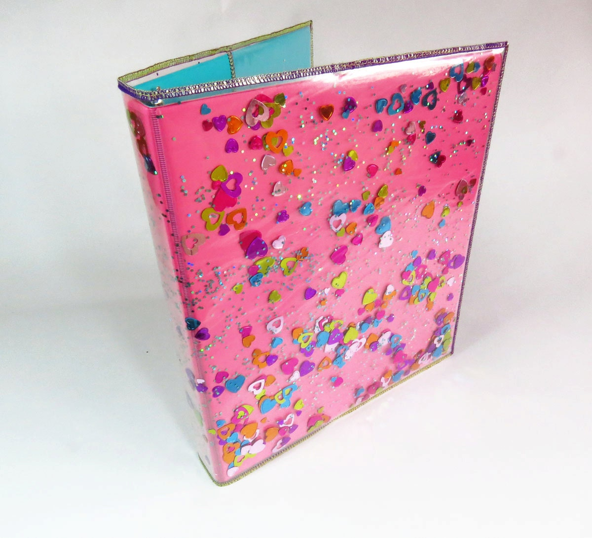 Diy glitter notebook cover -  Zoom