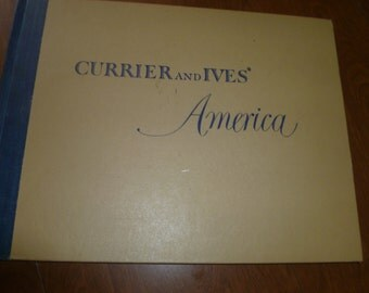 Beautiful Vintage Currier and Ives Art Book