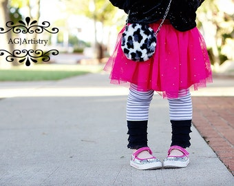 Instant Download PDF Sewing Pattern Easy Ruffled Girl's Leggings Pre-ruffled Knit Fabric  0-3 M to 10