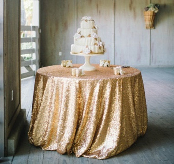 Gold Sequin Tablecloth Table Runners By Moderncelebrations