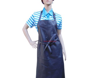 Women's Leather Apron With Adjustable Neck Strap BWP005