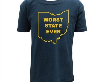 Worst State Ever OH Youth - Navy