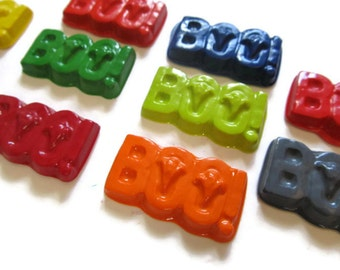 Boo Crayons set of 20 - Halloween Crayons - Party Favors