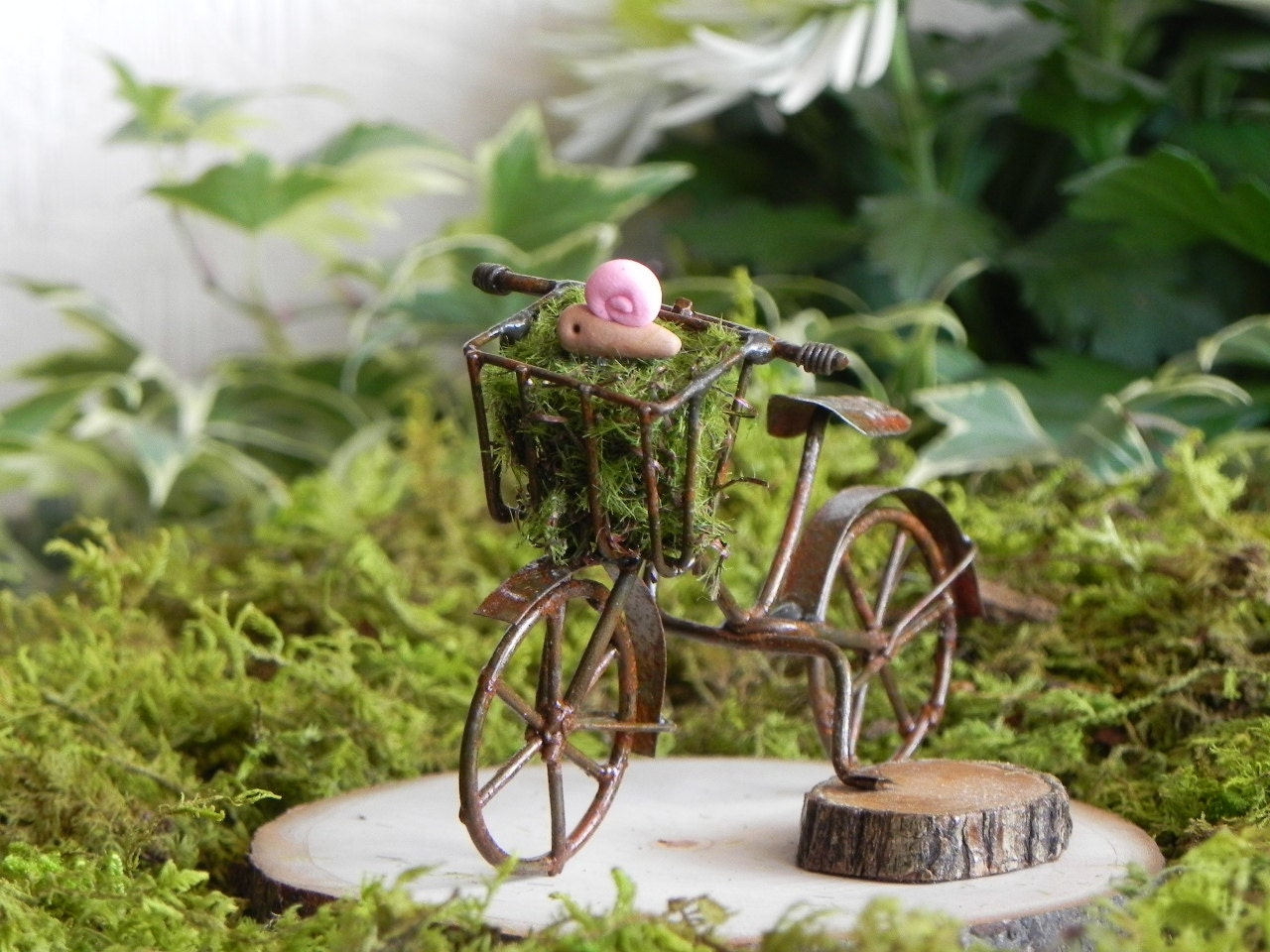 fairy garden accessories bike bicycle for terrarium or. Black Bedroom Furniture Sets. Home Design Ideas