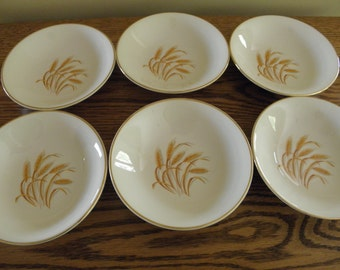 Golden Wheat Sauce Dishes - Set of 6