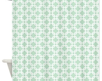 Mint Shower Curtain Etsy