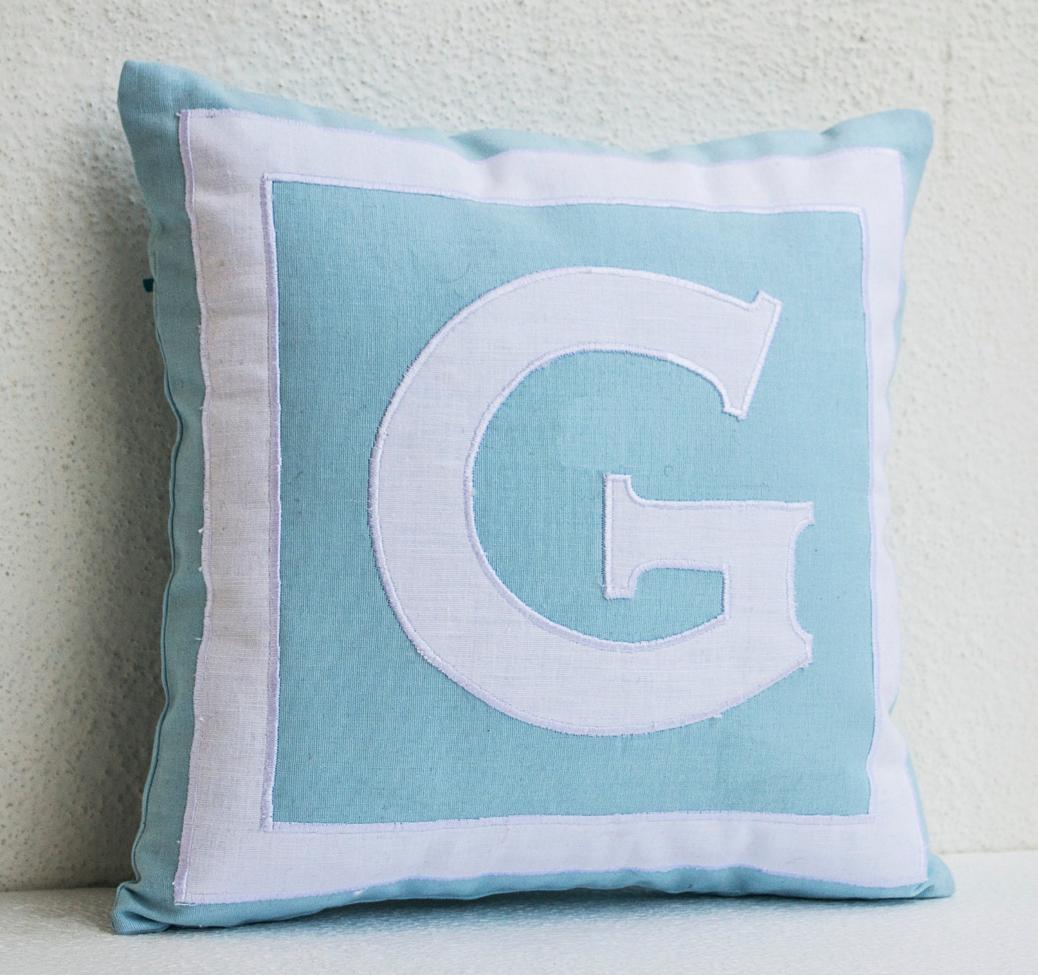 Monogrammed Throw Pillow Covers : Monogram Pillow Cover Monogrammed Throw Pillow Blue White