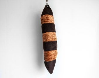 Raccoon Tail, Animal Tail, Dress Up, Cosplay, Woodland Animal, Brown Rust Orange, Stripes Geometric