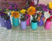 Painted Mason Jar - Wedding Centerpiece - Painted Mason Jar Vase - Holiday Centerpiece - You Choose Your Color