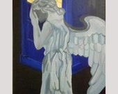 Don't Blink Acrylic Painting