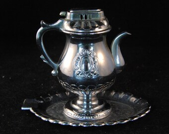Vintage lighter and ashtray tea pot made in occupied Japan